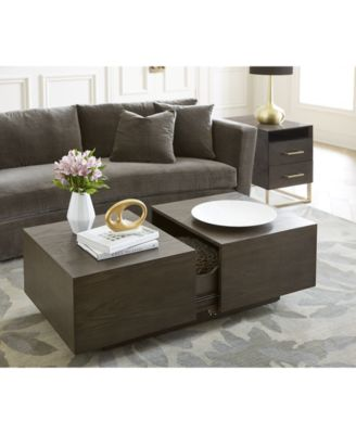 Furniture CLOSEOUT! Odyssey 2-Pc. Storage Table Set (Rectangle Storage Coffee Table u0026 End Table) - Furniture - Macyu0027s  sc 1 st  Macyu0027s & Furniture CLOSEOUT! Odyssey 2-Pc. Storage Table Set (Rectangle ...