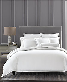 CLOSEOUT! Hotel Collection Ladder Stitch Pique White Duvet Covers, Created for Macy's