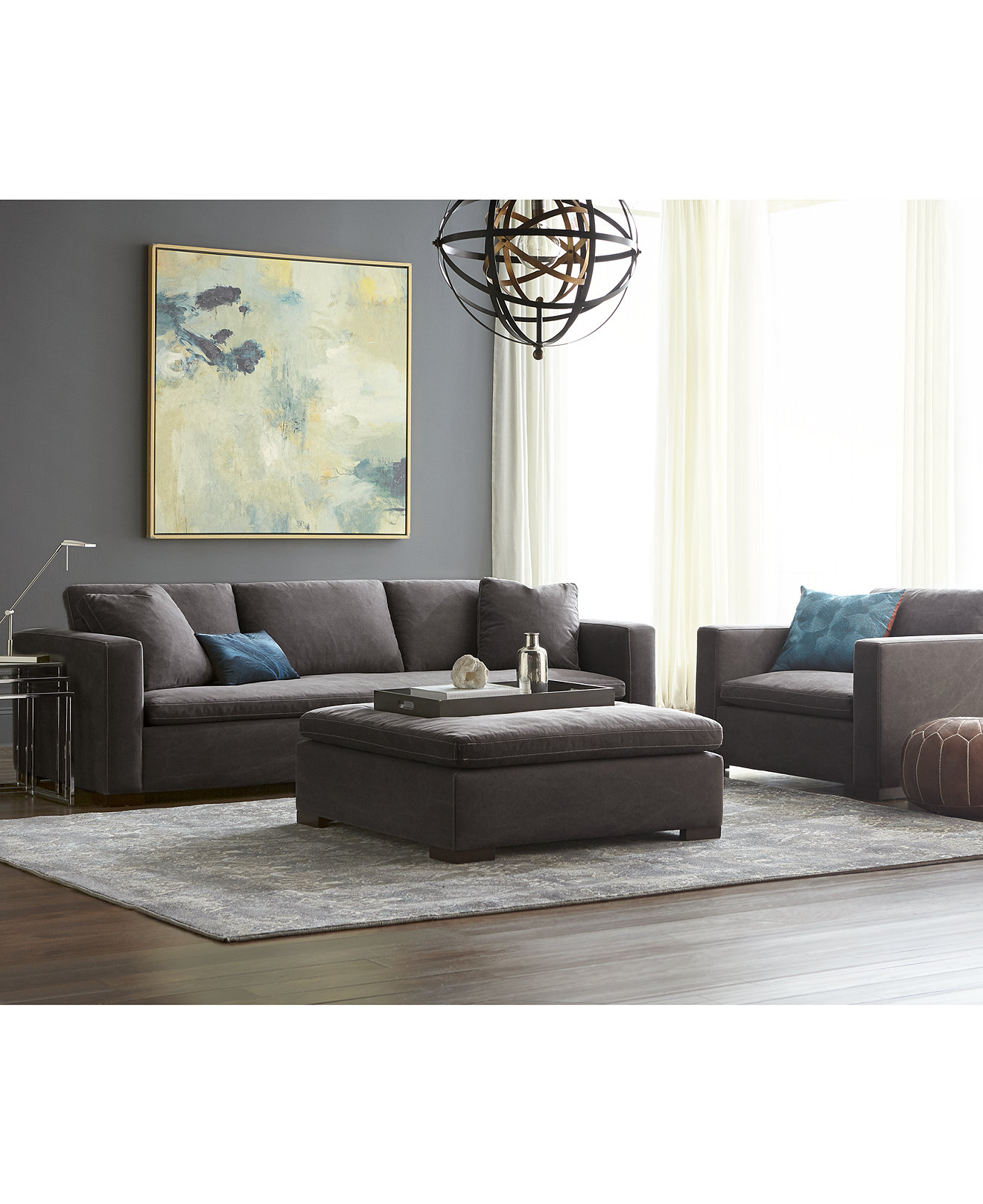 Cirillo fabric sofa collection only at macys