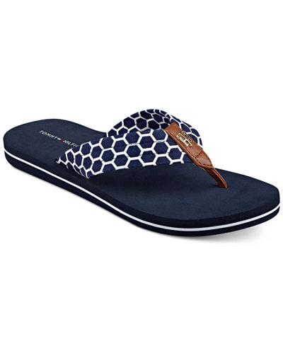 tommy hilfiger cargo flip flop sandals sandals shoes. Black Bedroom Furniture Sets. Home Design Ideas