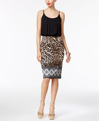 Thalia Sodi Blouson Bodysuit & Pencil Skirt, Only at Macy's