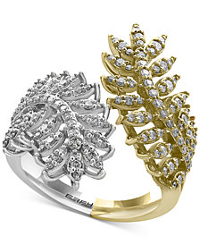 EFFY® Diamond Feather Bypass Ring (3/4 ct. t.w.) in 14k Two-Tone Gold