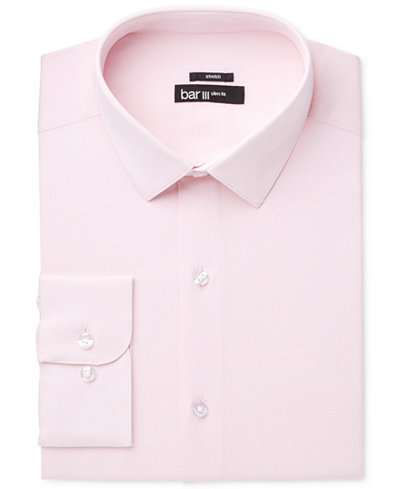 Bar III Men's Slim-Fit Stretch Max Pink Basket Dress Shirt ...