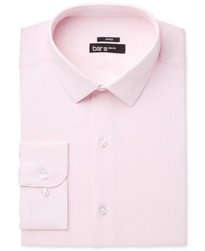 Bar III Men's Slim-Fit Stretch Max Pink Basket Dress Shirt ...