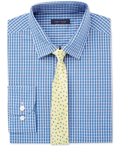 Tommy hilfiger 2 pc gingham shirt tie set big boys 8 for Tommy hilfiger gingham dress shirt