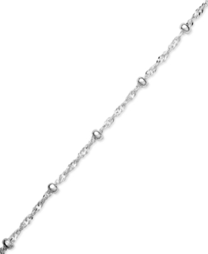 Giani Bernini Sterling Silver Anklet, Singapore Chain
