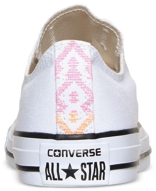 fc2fd3d3bdec ... Converse Women s Chuck Taylor Ox Aztec Print Casual Sneakers from  Finish ...