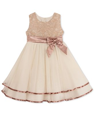 Rare Editions Lace-Bodice Fit & Flare Party Dress, Little Girls (4 ...