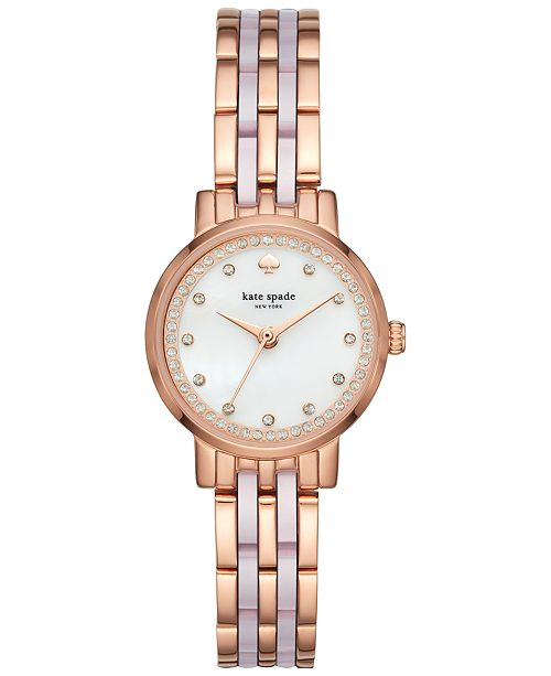 6ffc342166e ... kate spade new york Women s Mini Monterey Rose Gold-Tone Stainless  Steel and Blush Pink ...