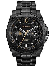 LIMITED EDITION Men's Special Edition 2017 GRAMMY® Black Stainless Steel Bracelet Watch 46mm 98B295
