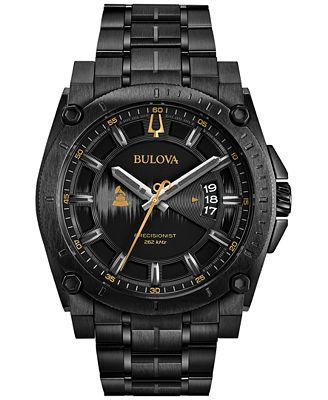 Bulova Men's Special Edition 2017 GRAMMY® Black Stainless Steel Bracelet Watch 46mm 98B295