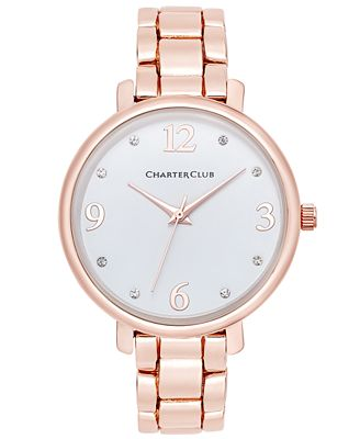 Charter Club Women's Rose Gold-Tone Bracelet Watch 36mm, Only at Macy's