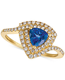 Le Vian® Neo Geo™ Blueberry Tanzanite® (5/8 ct. t.w.) & Diamond (3/8 ct. t.w.) Ring in 14k Gold
