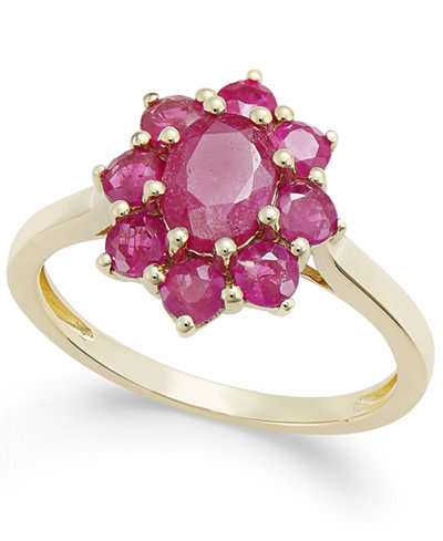 Certified Ruby Cluster Ring (2 ct. t.w.) in 14k Gold, Created for Macy's