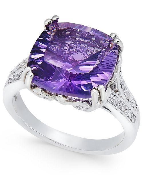 Macy's Amethyst Statement Ring (5 ct. t.w.) in Sterling Silver