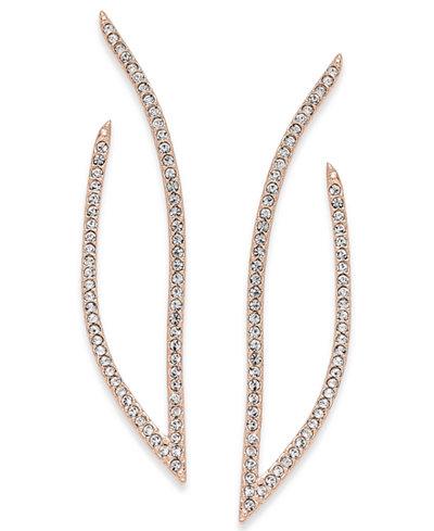 Danori Rose Gold-Tone Pavé Drop Earrings