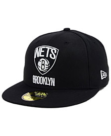 New Era Brooklyn Nets Black White 59FIFTY Cap