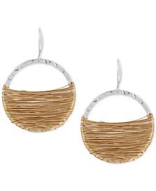 Two-Tone Wire-Wrapped Gypsy Hoop Earrings
