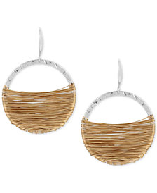 Robert Lee Morris Soho Two-Tone Wire-Wrapped Gypsy Hoop Earrings