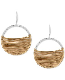 Robert Lee Morris Soho Two-Tone Wire-Wrapped Gypsy Hoop Earrings