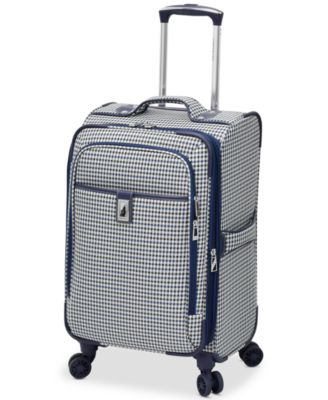 "Image of London Fog Oxford Hyperlight 21"" Expandable Spinner Carry-On Suitcase, Only at Macy's"