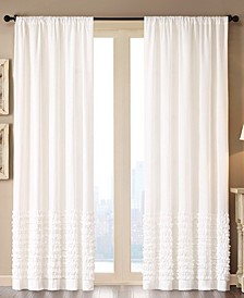 "Bessie Cotton 50"" x 84"" Horizontal Ruffle Window Panel"