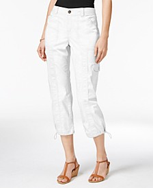 Petite Cargo Capri Pants, Created for Macy's