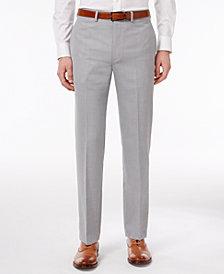 Calvin Klein Men's Extra Slim-Fit Silver Gray Sharkskin Dress Pants