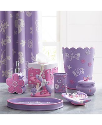 Bathroom Accessories Kids kassatex kassa kids butterfly bath accessories collection