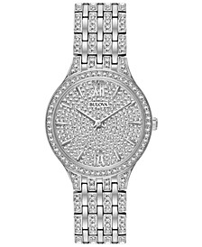 Women's Crystal Accented Stainless Steel Bracelet Watch 32mm 96L243