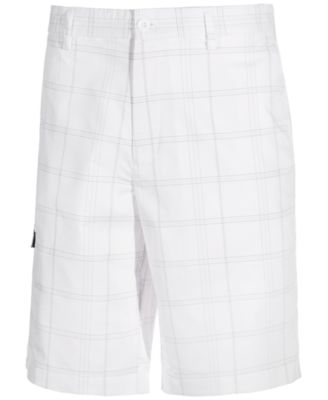 Image of Greg Norman for Tasso Elba Men's Performance Stretch Plaid Golf Shorts, Created for Macy's