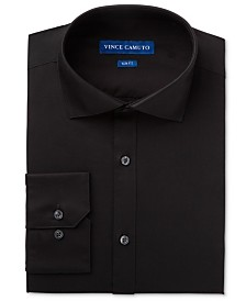 Vince Camuto Men's Slim-Fit Comfort Stretch Solid Dress Shirt