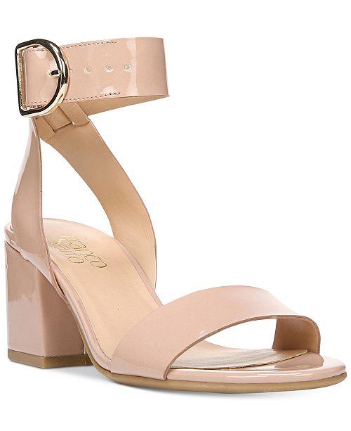 0eb209eaafba Franco Sarto Marcy Block-Heel Sandals   Reviews - Sandals   Flip ...