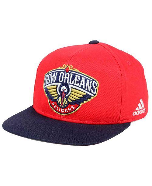 adidas Kids' New Orleans Pelicans XL 2-Color Snapback Cap