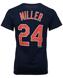 Majestic Men's Andrew Miller Cleveland Indians Official Player T-Shirt