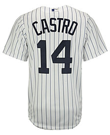 Majestic  Starlin Castro New York Yankees Player Replica CB Jersey, Big Boys (8-20)