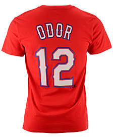Majestic Men's Rougned Odor Texas Rangers Official Player T-Shirt