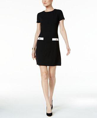 Tommy Hilfiger black shift dress