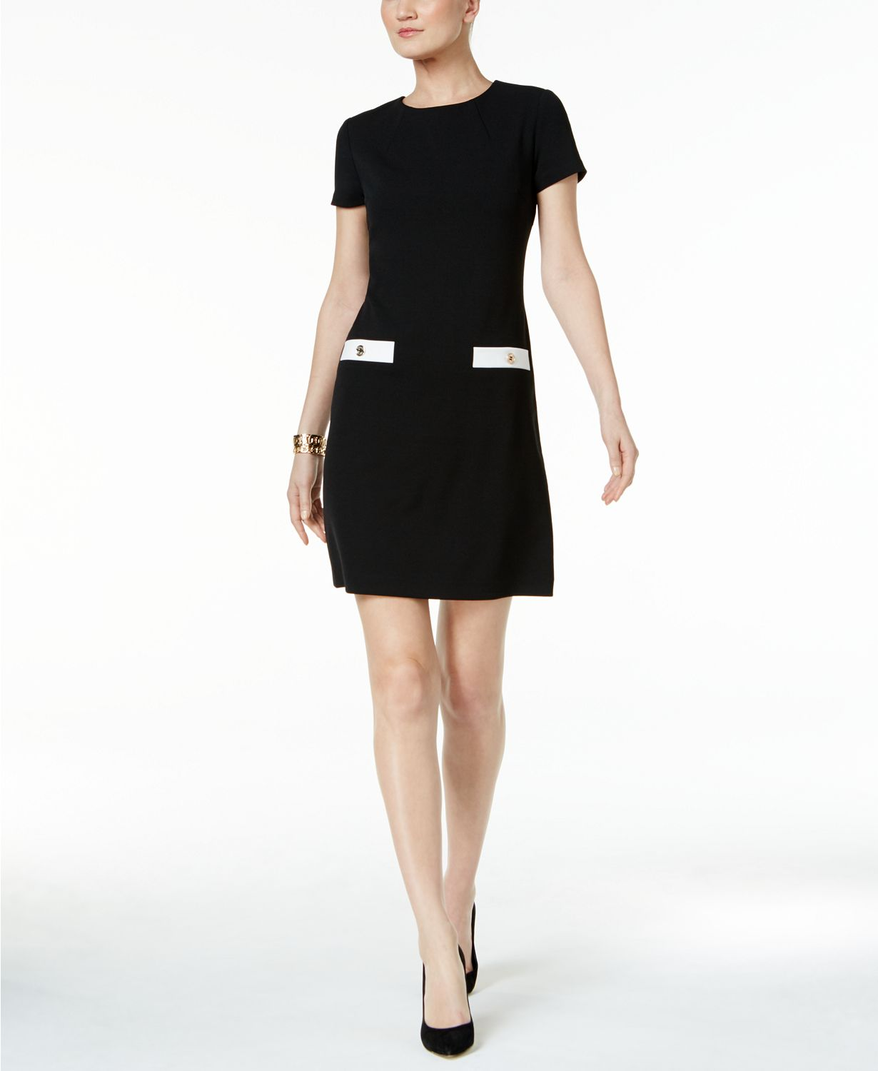 Tommy Hilfiger black shift dress