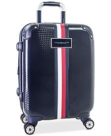 "CLOSEOUT! Tommy Hilfiger Basketweave Hardside 21"" Spinner Suitcase"