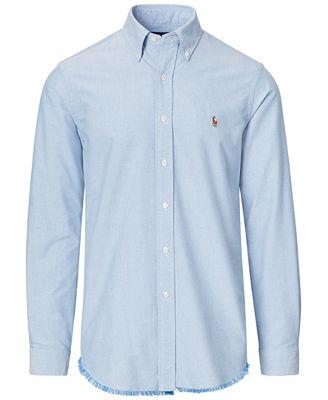 Polo Ralph Lauren Men's Distressed Sport Shirt - Casual Button ...