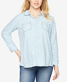 Splendid Maternity Button-Front Blouse