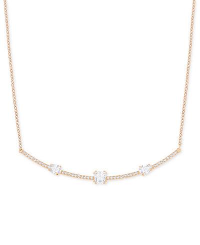 Swarovski Rose Gold-Tone Crystal Necklace