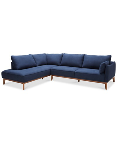 Jollene 2-Pc. Sectional, Created for Macy's