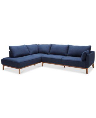 Jollene 2-Pc. Sectional Created for Macyu0027s  sc 1 st  Macyu0027s : blue sectional sofas - Sectionals, Sofas & Couches