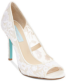 Blue by Betsey Johnson Adley Embroidered Evening Pumps