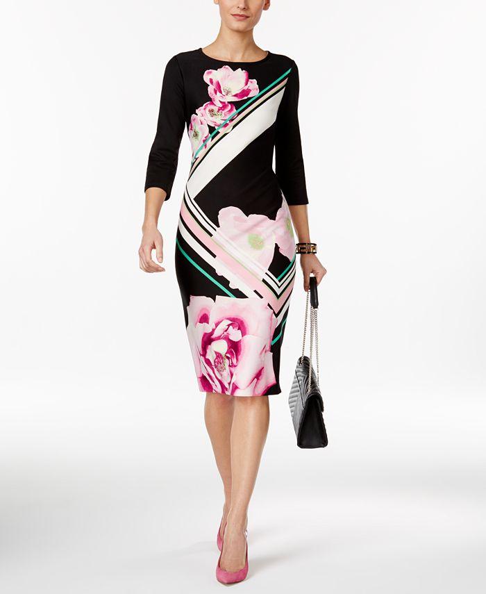 ECI - Printed Sheath Dress