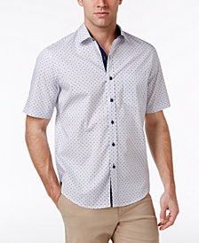 Tasso Elba Men's Foulard 100% Cotton Shirt, Created for Macy's