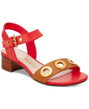 Anne Klein Ellamae Block-Heel Sandals