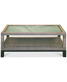 North Port Wicker Outdoor Coffee Table, Created for Macy's